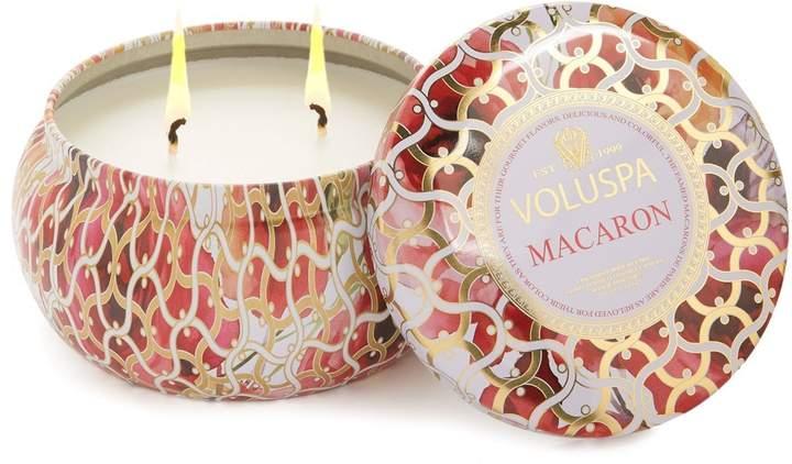 Voluspa Maison Blanc Macaron Maison Metallo Two-Wick Candle