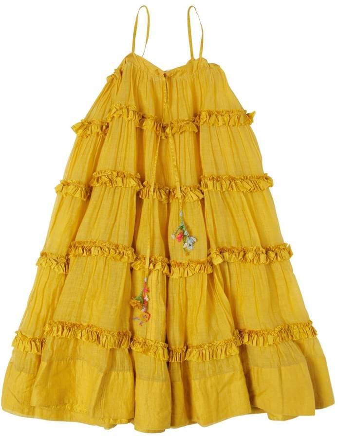 Péro Ruffled Cotton Satin Dress