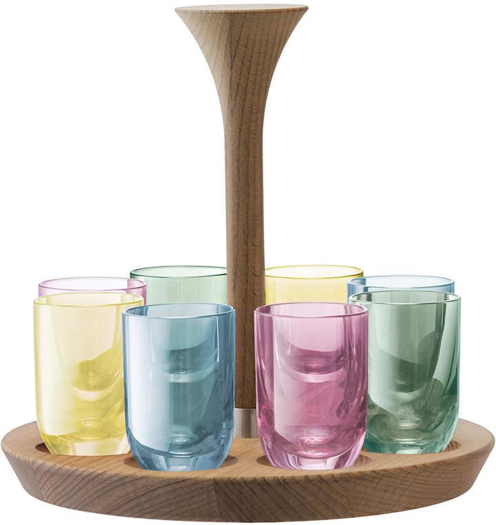 Lsa International LSA International - Polka Assorted Vodka Shot Glasses - Set of 8 - Pastel