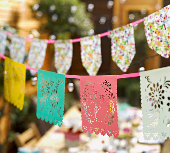 Postbox Party Floral Fiesta Mexicana Bunting