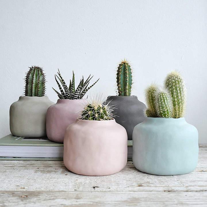 Lilac Coast Muted Pastel Porcelain Vase Pot