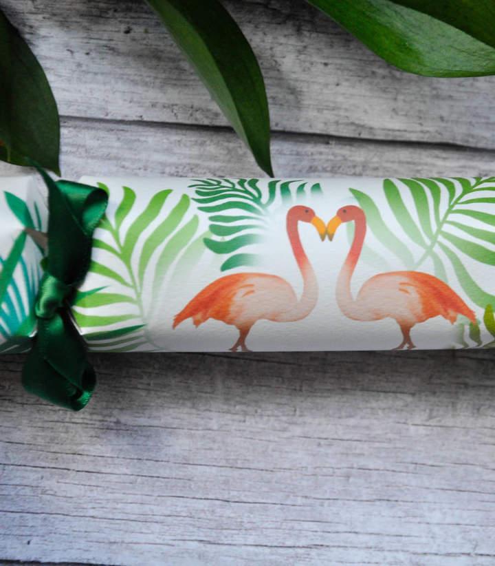 The Handmade Cracker Company Flamingo Party Crackers. Box Of Six