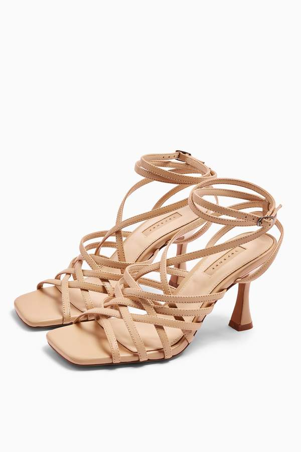 Topshop Womens Rhapsody Strappy Sandals - Nude