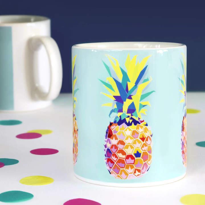 Paper Plane Tropical Pineapple Mug