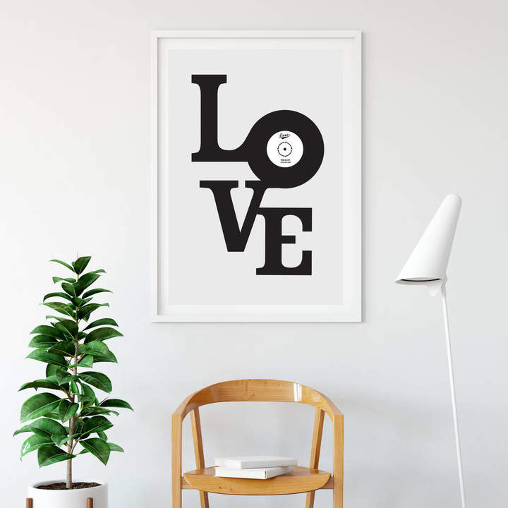 Allihopa Personalised Vinyl Love Print