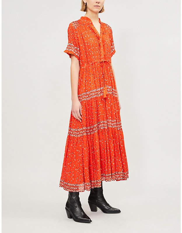 Free People Rare Feelings floral-print woven midi dress