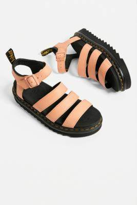 Dr. Martens Blair Coral Sandals - orange UK 6 at Urban Outfitters