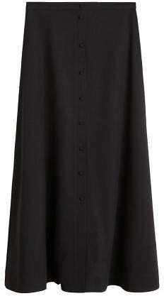 Button long skirt