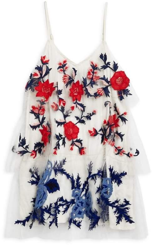 Hemant & Nandita Little Girl's & Girl's Floral Trapeze Dress