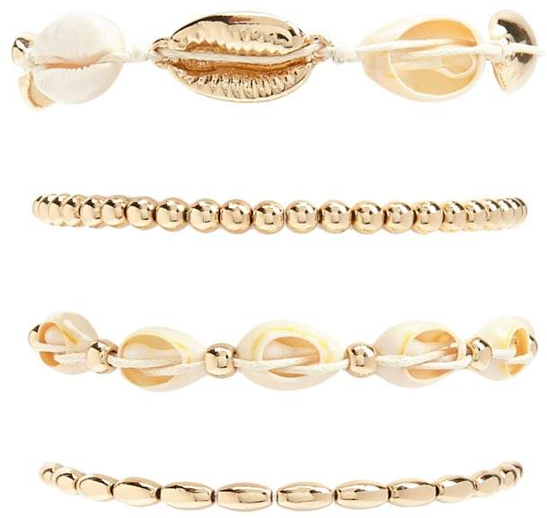 Forever 21 Cowrie and Beaded Bracelet Set