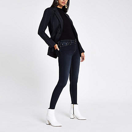 Womens Dark Blue Molly mid rise jeggings