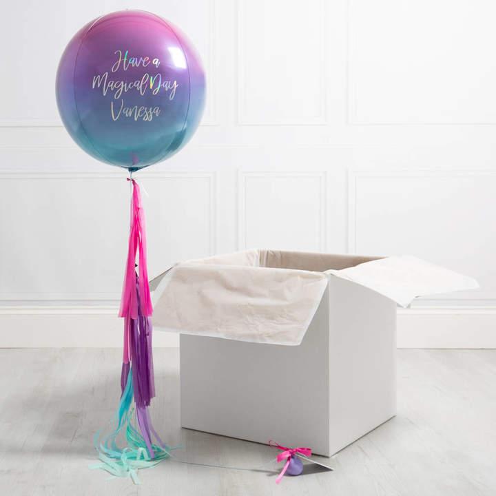 Bubblegum Balloons Personalised Mermaid Tassel Orb Balloon