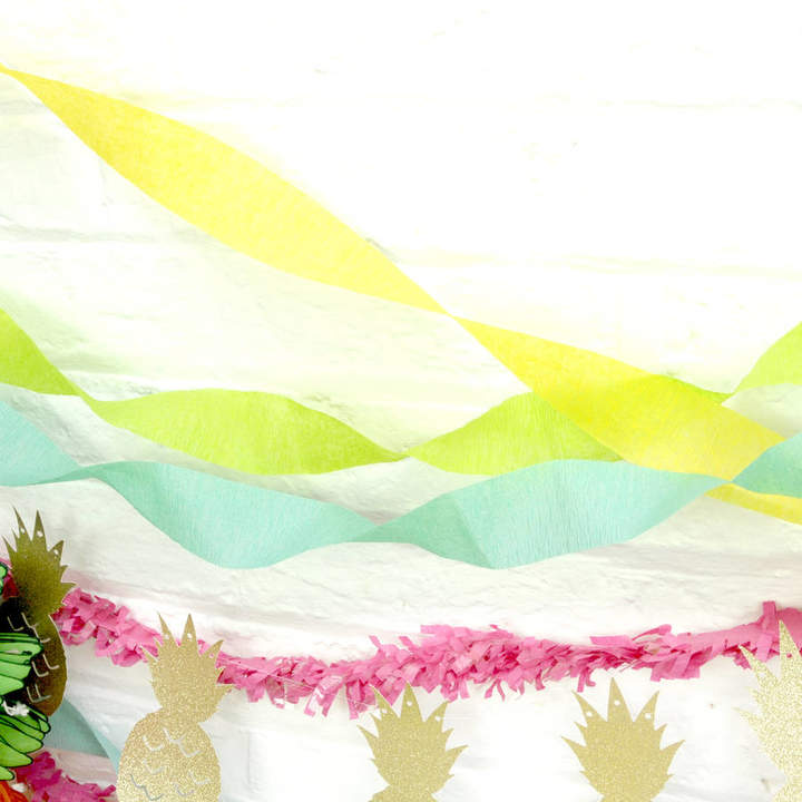 Peach Blossom Set Of Three Crepe Paper Streamers Party Decoration