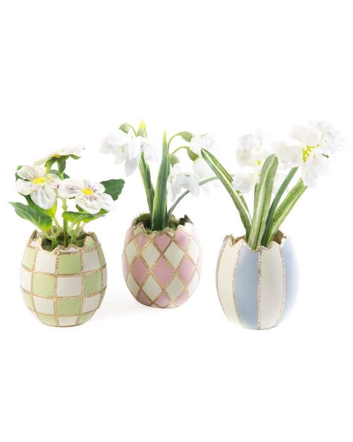 MacKenzie-Childs Pastel Egg Bouquet, Set of 3