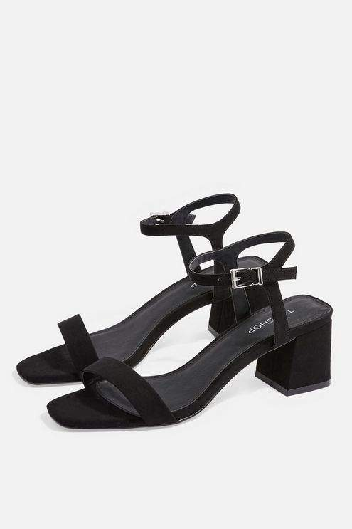 Topshop Womens Dallas Square Sandals - Black