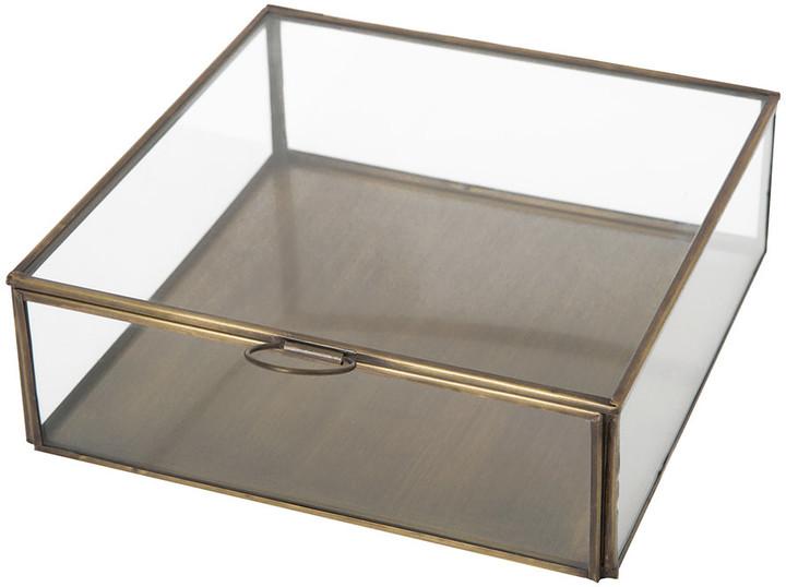 Broste Copenhagen - Janni Trinket Box - Brass/Glass - Square