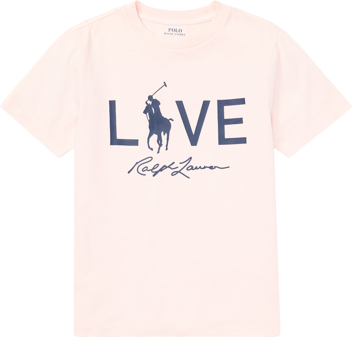 Ralph Lauren Pink Pony Live Love T-Shirt