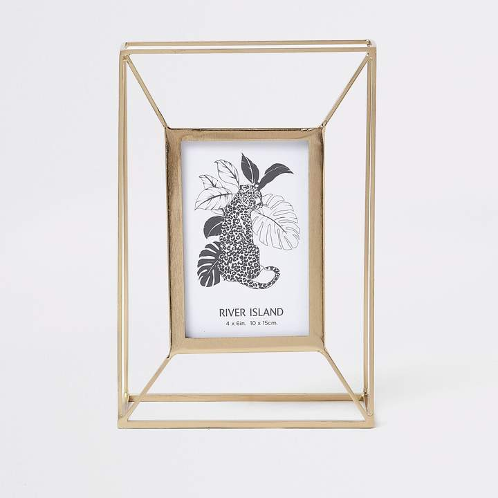 Gold large wired photo frame