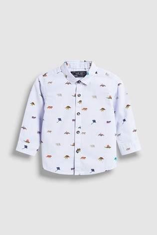 Boys Next Blue Dinosaur Printed Shirt (3mths-7yrs)