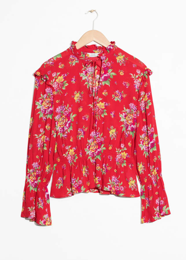 And other stories Bell Sleeve Blouse