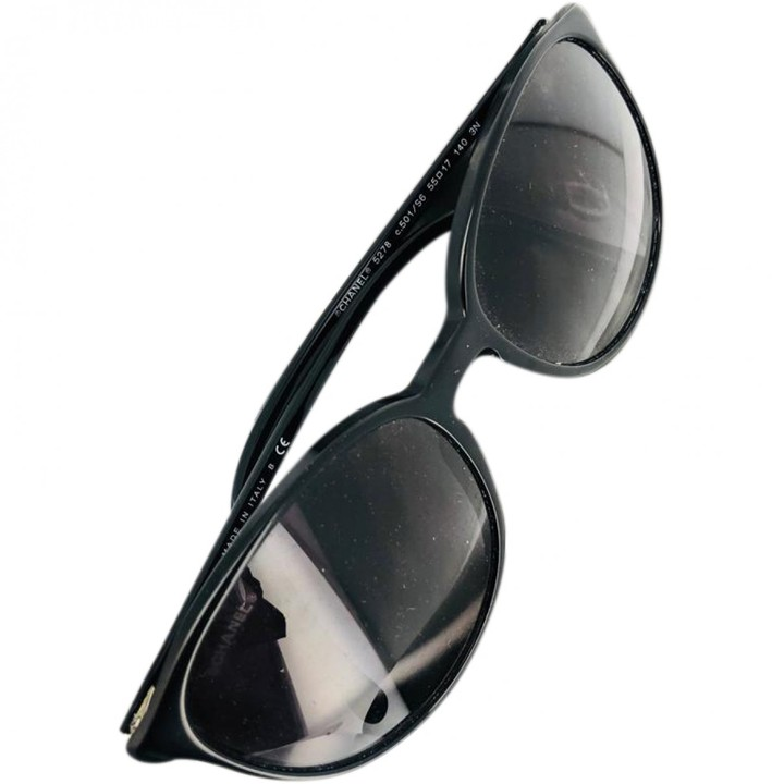 Chanel Black Plastic Sunglasses