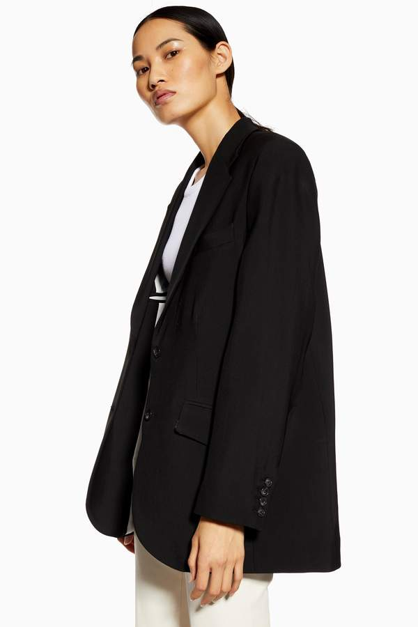 Topshop Womens **Wool Rich Ultimate Blazer By Boutique - Black