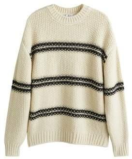 Knit striped sweater