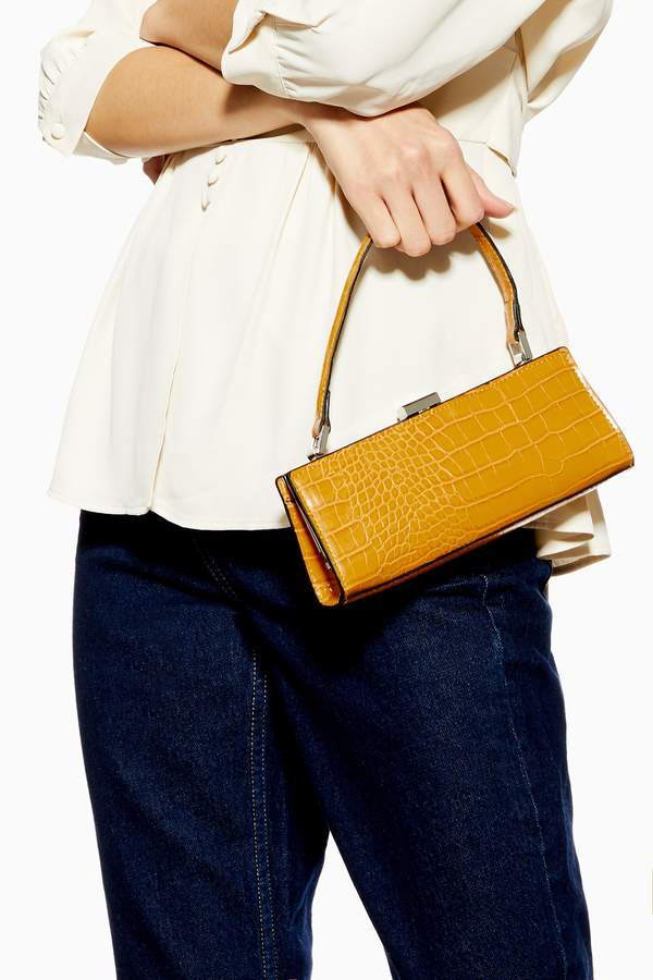 Topshop Womens Frankie Yellow Frame Mini Bag - Yellow