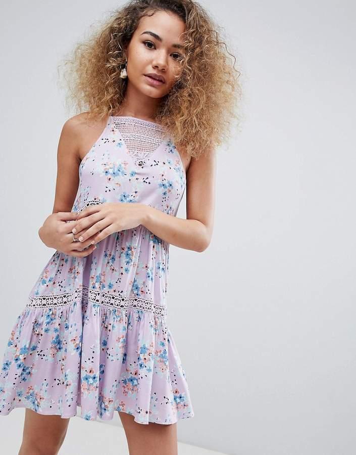 En Crème En Creme sleeveless floral mini dress