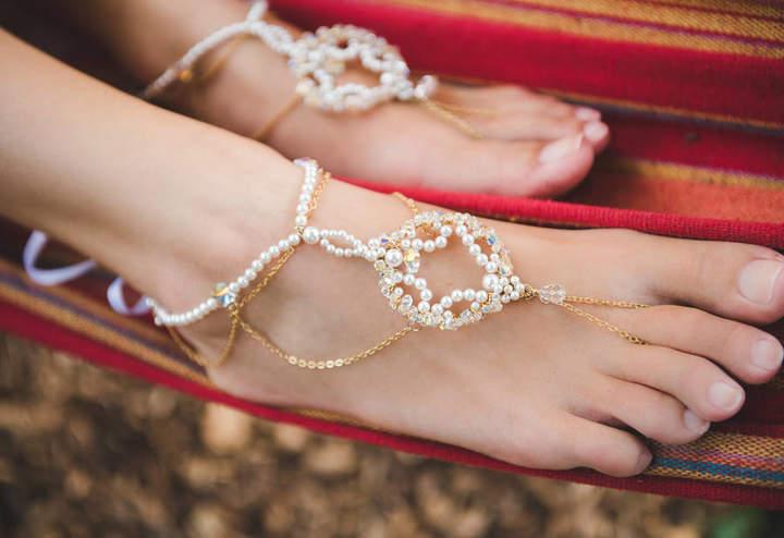 PS With Love Priya Bridal Barefoot Sandals