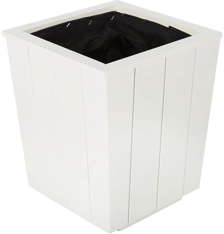 Iron & Clay - Hardwood Tapered Planter - Antique White - Small