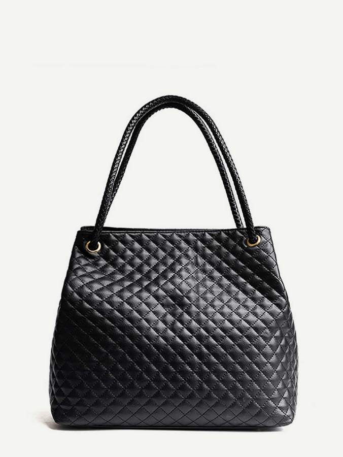 Shein Quilted Detail Slouch Bag