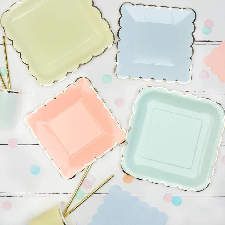 Postbox Party Pastel And Gold Party Plates