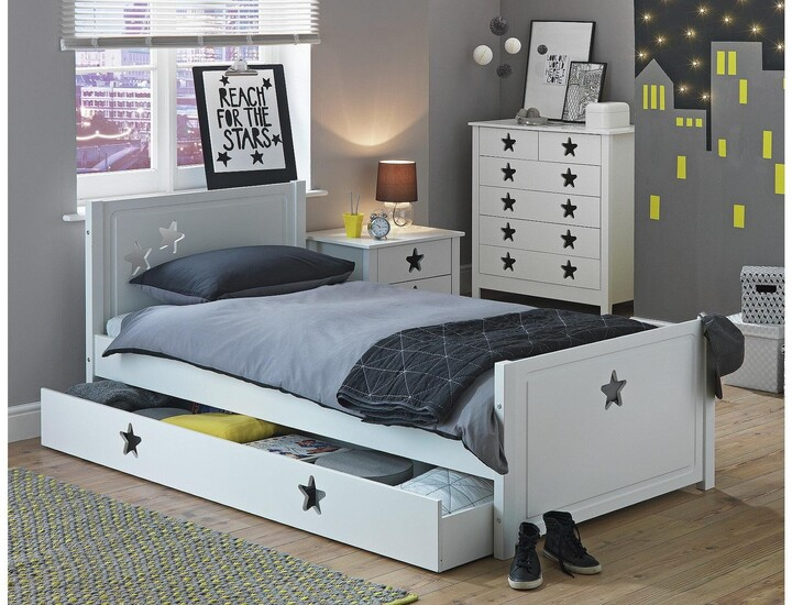 Argos Home Stars White Single Bed with Drawer