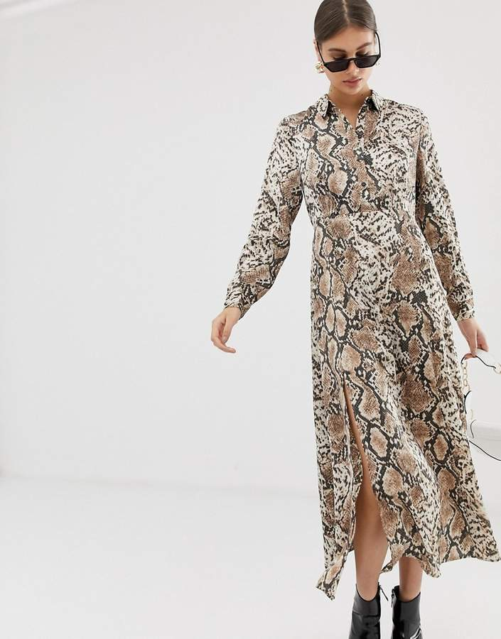 Pieces snake print maxi dress-Multi