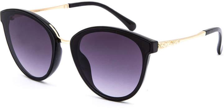 Full Tilt Quinn Metal Mix Cat Eye Sunglasses