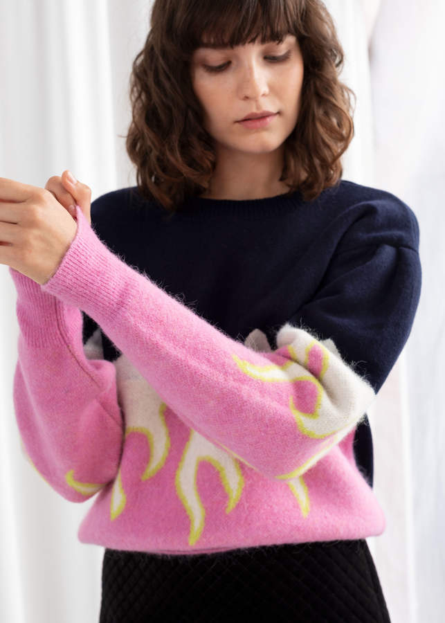 And other stories Flame Colour Block Sweater