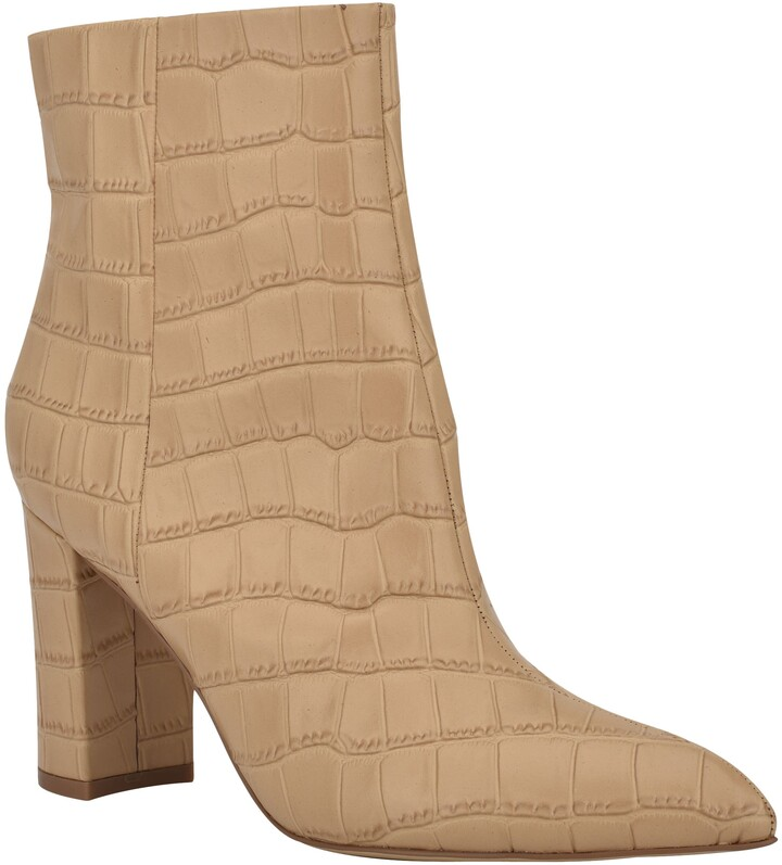 ulani embossed pointed bootie