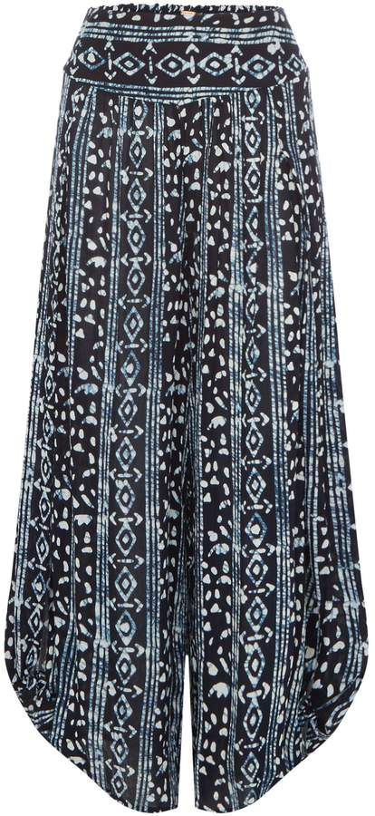 Free People Floaty Printed Wide Palazzo Trousers