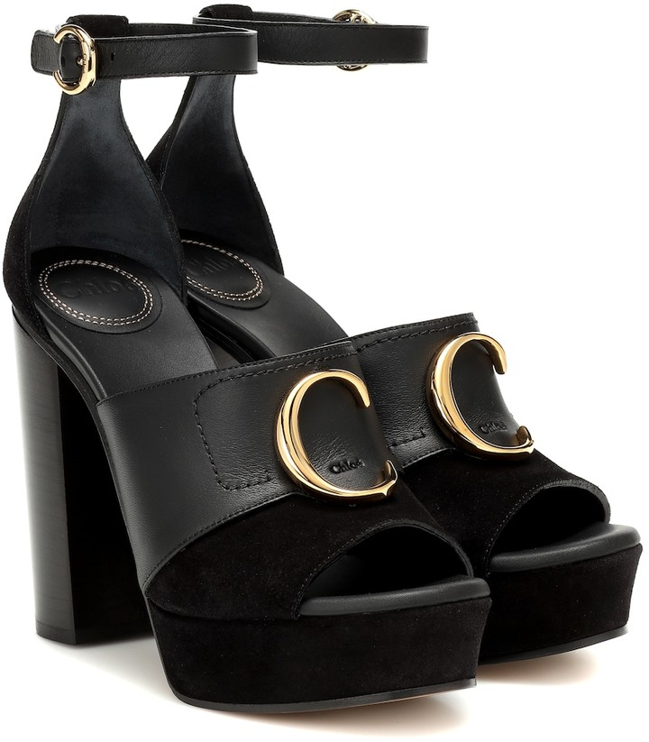 Chloã© ChloA C platform leather sandals