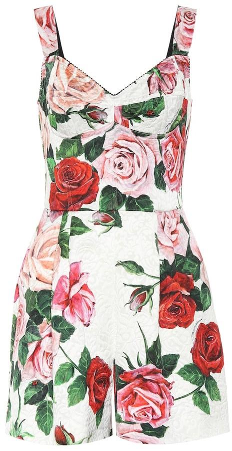 Printed floral playsuit