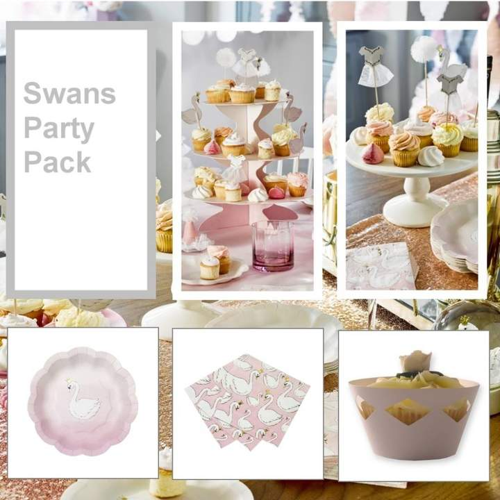 Bunting & Barrow Swan Lake Party Tableware Pack