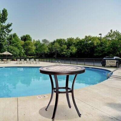 round bistro patio table contemporary outdoor garden furniture