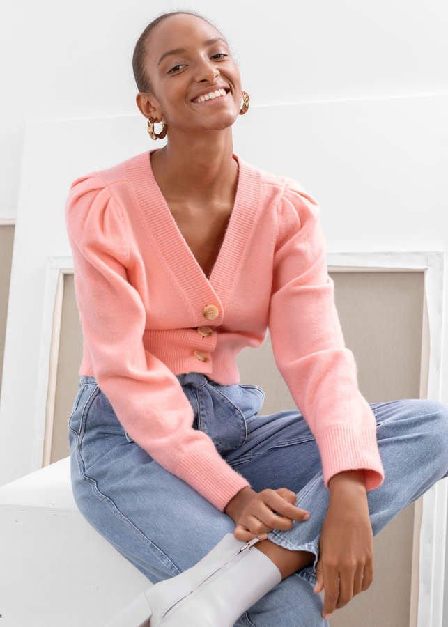 And other stories Puff Sleeve Short Cardigan