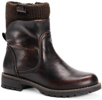 Muk Luks Womens Bobbi Block Heel Dress Boots