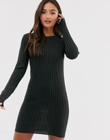 JUMPER DRESS IN CHARCOAL