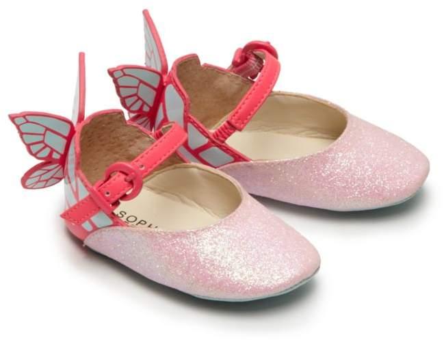 Sophia Webster Baby's Chiara Mini Butterfly Glitter Mary Janes