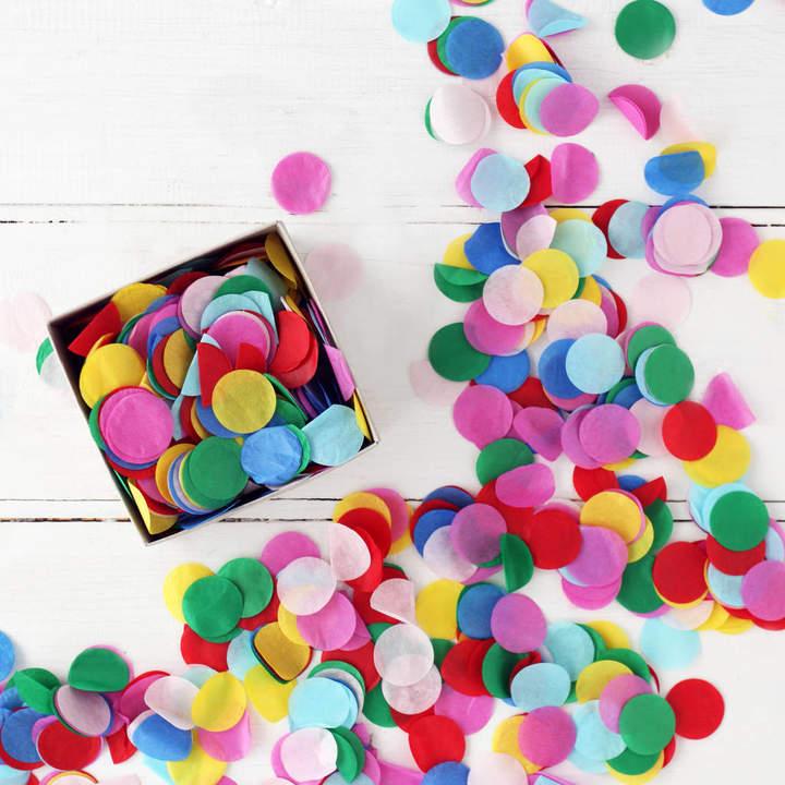 Postbox Party Multi Colour Party Confetti In A Box