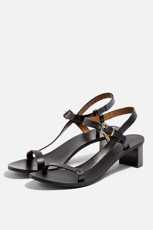Topshop Womens **Wide Fit Venus Asymmetric Sandals - Black