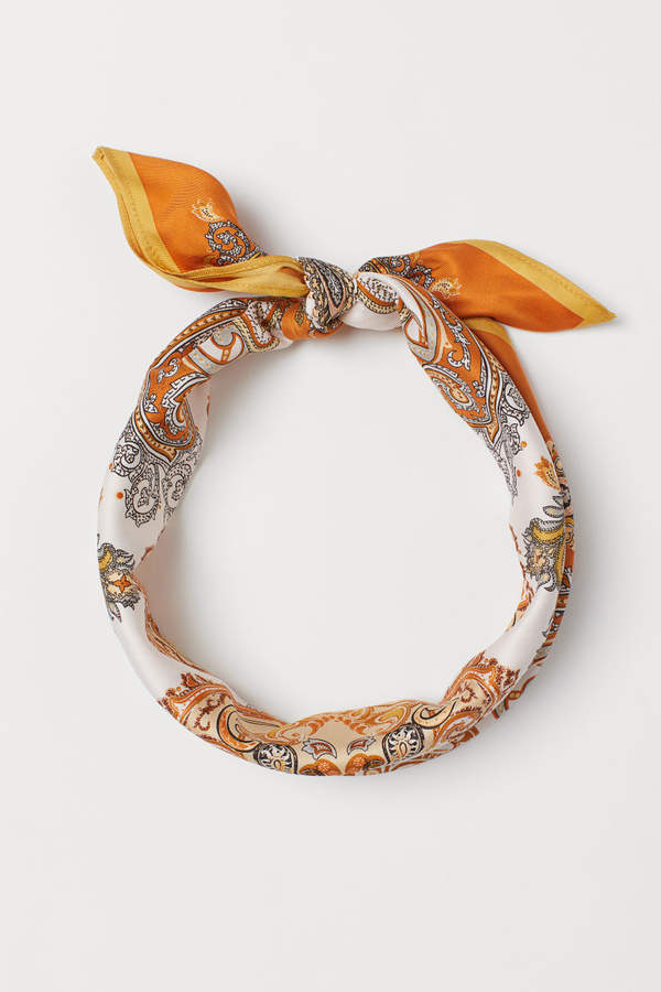 H&M - Patterned Scarf - Orange